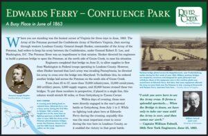 Edwards Ferry - Confluence Park Commemorative Sign